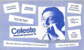 pat100488 - Celeste Lieutenant Governor 74  Patriotic Postcard Post Card