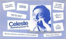 pat100489 - Celeste Lieutenant Governor 74  Patriotic Postcard Post Card