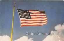 pat100491 - Old Glory Star Spangled Banner Patriotic Postcard Post Card