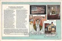 pat100495 - Barbara Fritchie By John Greenleaf Whittier Patriotic Postcard Post Card