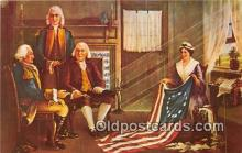 pat100504 - Birth of Our Nation's Flag Painting of Chas H Weisgerber Patriotic Postcard Post Card