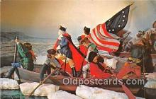 pat100506 - Washington Crossing the Delaware American Wax Museum, Philadelphia, PA Patriotic Postcard Post Card