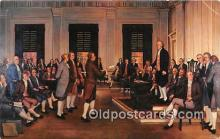pat100510 - Adoption of the Constitution of the US 1787 Harrisburg, Pennsylvania Patriotic Postcard Post Card