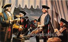 pat100514 - General Washington, Wax Museum Miami, Florida Patriotic Postcard Post Card