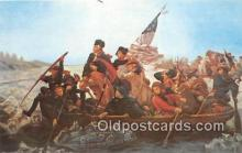 pat100516 - Washington Crossing the Delaware  Patriotic Postcard Post Card