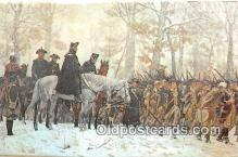 pat100517 - Washington Taking Command of Troops Valley Forge, PA Patriotic Postcard Post Card