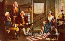 pat100520 - Birth of Our Nation's Flag Painting by Chas H Weisgerber Patriotic Postcard Post Card