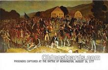 pat100523 - Prisoners Captured Battle of Bennington, August 16, 1777 Patriotic Postcard Post Card