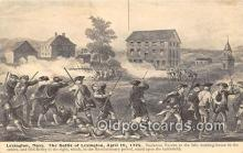 pat100524 - Battle of Lexington, April 19, 1775 Lexington, Mass Patriotic Postcard Post Card