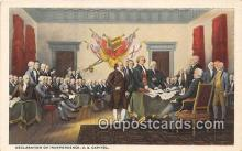 pat100533 - Declaration of Independence US Capitol Patriotic Postcard Post Card