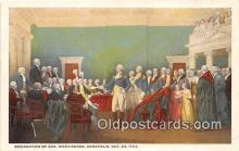 pat100535 - Resignation of Gen Washington Annapolis, Dec 23, 1783 Patriotic Postcard Post Card