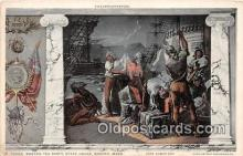 pat100537 - Boston Tea Party, State House Boston, Massachusetts Patriotic Postcard Post Card
