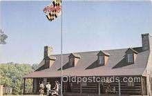 pat100539 - Fort Frederick Museum Washington County, MD Patriotic Postcard Post Card