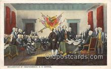 pat100540 - Declaration of Independence US Capitol Patriotic Postcard Post Card