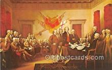 pat100541 - Signing of the Declaration of Independence, July 4, 1776 Painting by John Trumbull Patriotic Postcard Post Card