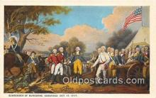 pat100542 - Surrender of Burgoyne Saratoga, Oct 17, 1777 Patriotic Postcard Post Card