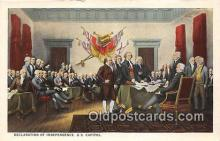 pat100543 - Declaration of Independence US Capitol Patriotic Postcard Post Card