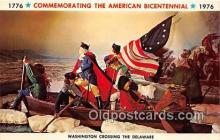 pat100547 - Commemorating the American Bicentennial Washington Crossing the Delaware Patriotic Postcard Post Card