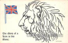 pat100551 - Glory of a Lion is his Mane  Patriotic Postcard Post Card