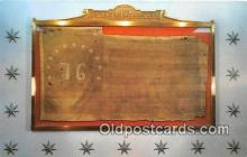 pat100553 - Oldest Stars & Stripes Flag Battle of Bennington, August 16, 1777 Patriotic Postcard Post Card