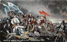 pat100556 - Battle of Bunker Hill, June 17, 1775 Charlestown, Mass Patriotic Postcard Post Card