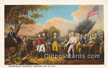 pat100558 - Surrender of Burgoyne Saratoga, Oct 17, 1777 Patriotic Postcard Post Card
