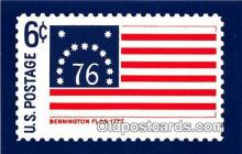 pat100566 - Bennington Flag 1777 North Bennington, Vermont Patriotic Postcard Post Card