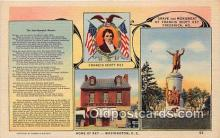 pat100569 - Francis Scott Key, Home of Key Washington DC Patriotic Postcard Post Card