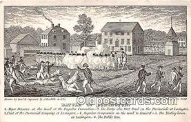 pat100571 - Battle of Lexington Public Inn Patriotic Postcard Post Card