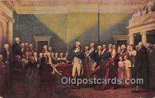 pat100572 - Resignation of Gen Washington Annapolis, Dec 23, 1783 Patriotic Postcard Post Card