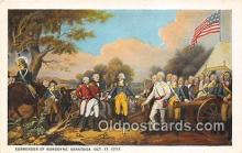 pat100574 - Surrender of Burgoyne Saratoga, Oct 17, 1777 Patriotic Postcard Post Card