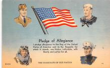 pat200011 - Patriotic Post Card Old Vintage Antique Postcard