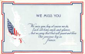 pat200013 - Patriotic Post Card Old Vintage Antique Postcard