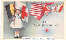pat200017 - Patriotic Post Card Old Vintage Antique Postcard