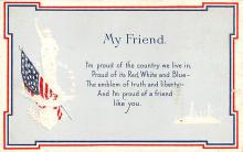 pat200021 - Patriotic Post Card Old Vintage Antique Postcard