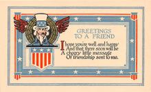 pat200029 - Patriotic Post Card Old Vintage Antique Postcard