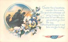 pat200035 - Patriotic Post Card Old Vintage Antique Postcard