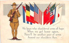 pat200045 - Patriotic Post Card Old Vintage Antique Postcard