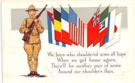 pat200051 - Patriotic Post Card Old Vintage Antique Postcard