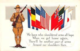 pat200059 - Patriotic Post Card Old Vintage Antique Postcard