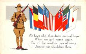 pat200061 - Patriotic Post Card Old Vintage Antique Postcard