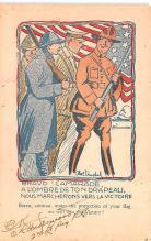 pat200063 - Patriotic Post Card Old Vintage Antique Postcard