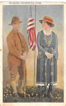 pat200065 - Patriotic Post Card Old Vintage Antique Postcard