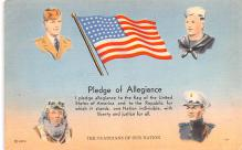 pat200109 - Patriotic Post Card Old Vintage Antique Postcard