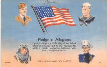 pat200111 - Patriotic Post Card Old Vintage Antique Postcard