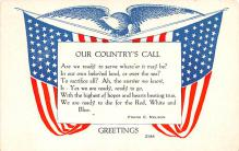 pat200295 - Patriotic Post Card Old Vintage Antique Postcard