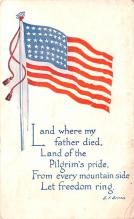 pat200317 - Patriotic Post Card Old Vintage Antique Postcard