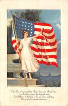 pat200319 - Patriotic Post Card Old Vintage Antique Postcard