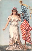pat200329 - Patriotic Post Card Old Vintage Antique Postcard