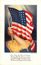 pat200335 - Patriotic Post Card Old Vintage Antique Postcard